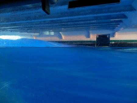wieder blaues Wasser unterm Kiel