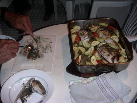 Abendessen-Fisch