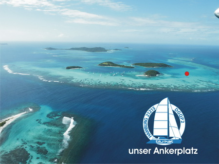 Ankerplatz in den Tobago Cays