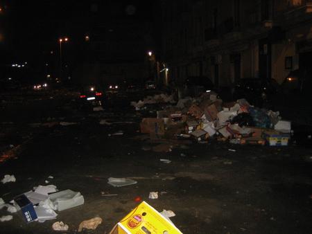 Catania am Abend nach dem MArkt