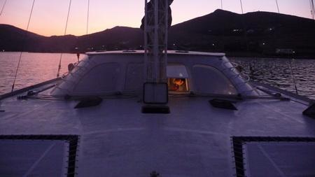 Claus kocht an Bord