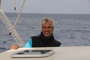 Der Kapitän am Steuer