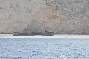 Schiffswrack auf Zakynthos