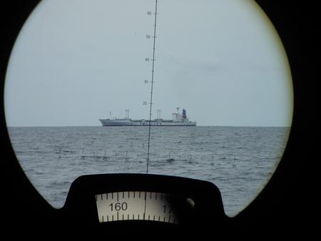 Frachter am Horizont