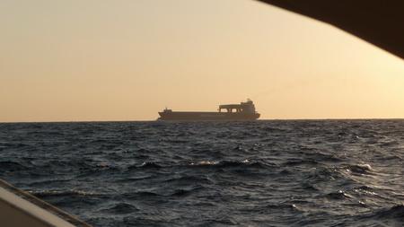 Frachter nach Asien