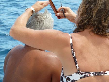 Haare schneiden auf See