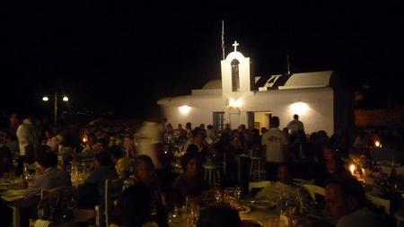 Hafen Naousa bei Nacht-6