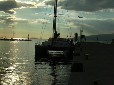 Anfahrt Korinth-Kanal
