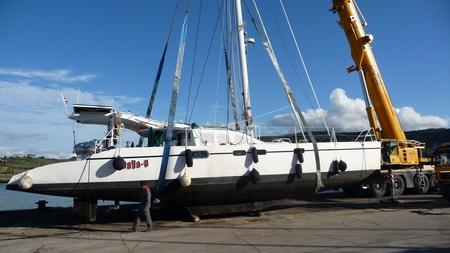 Kranen in der Werft von Izola