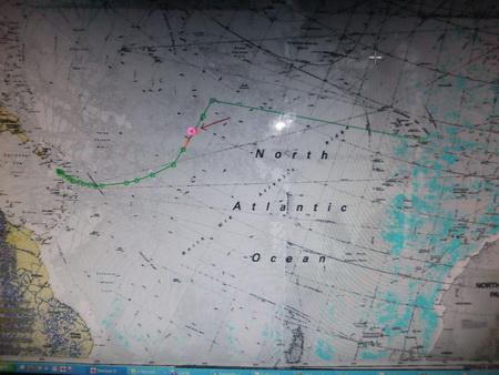 Kurs im Atlantik