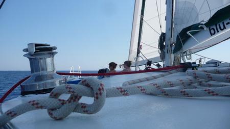 Faros und Segeln anch Naoussa