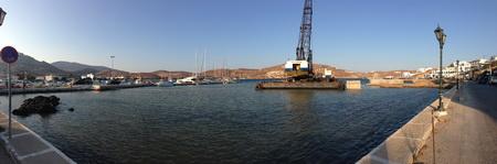 Hafenarbeiten in Ormos Levitha