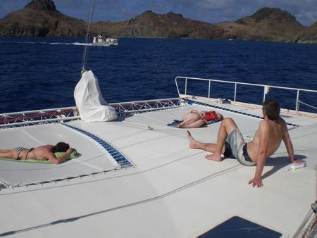 Relaxen am Vorschiff