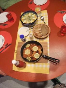 Schnitzel + Kartoffelsalat