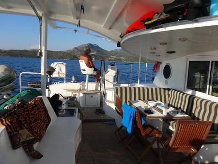 Skipper am Ruder