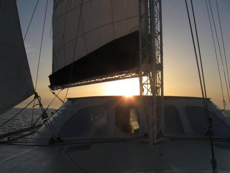 Sonnenaufgang auf See Malta nach Bizerte-22