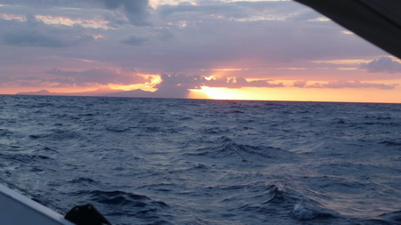 Sonnenuntergang Liparischen Inseln