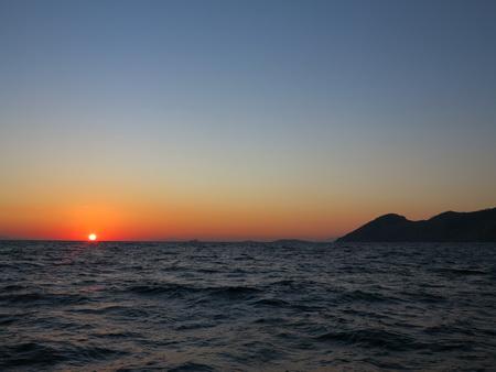 Sonnenuntergang auf Symi