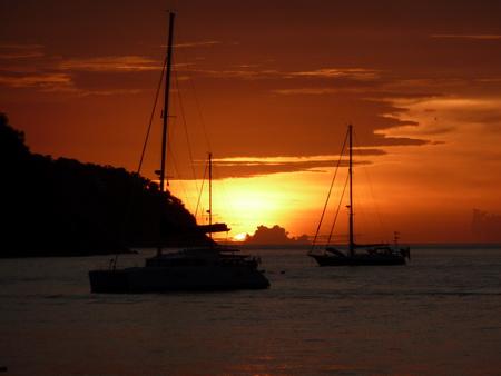 Sonnenuntergang in den Cays