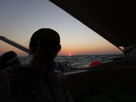 Sonnenuntergang vor Patmos