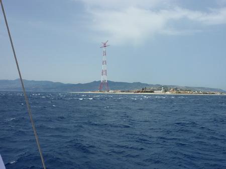 Strasse von Messina Nordeinfahrt