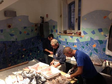 frischer Fisch in Siracusa